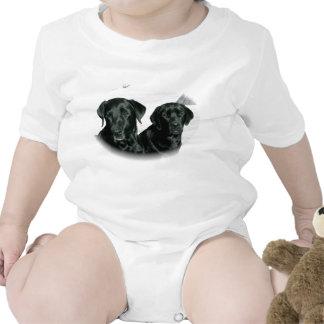 Laboratorios negros trajes de bebé