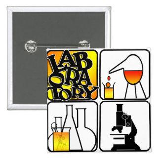 LABORATORY 4 SQUARE - BEAKERS / MICROSCOPE 2 INCH SQUARE BUTTON