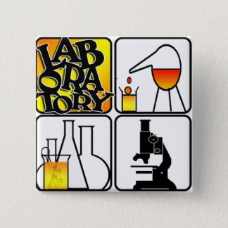 LABORATORY 4 SQUARE - BEAKERS / MICROSCOPE BUTTON