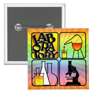 LABORATORY 4 SQUARE LOGO BUTTONS