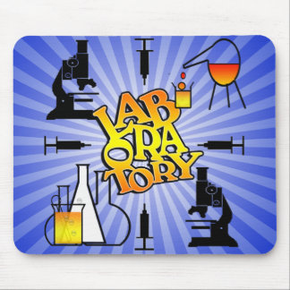 LABORATORY 4 SQUARE LOGO MOUSE PAD