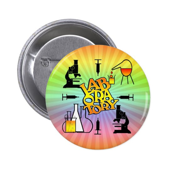 LABORATORY 4 SQUARE LOGO PINBACK BUTTON