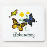 Laboratory Butterflies Mouse Pads
