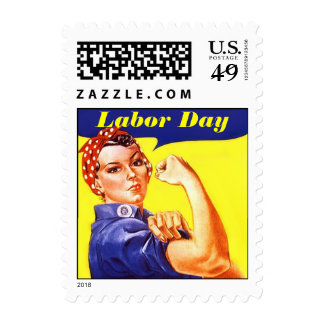 Laboratory Day Vintage Rosie The Riveter Stamps
