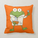 Laboratory Frog Pillow