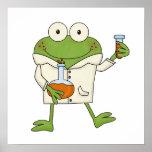 Laboratory Frog Poster