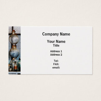 Laboratory Glassware - Platinum Finish Business Card