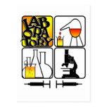 LABORATORY LOGO 4 SQUARE - LAB ICONS POST CARD