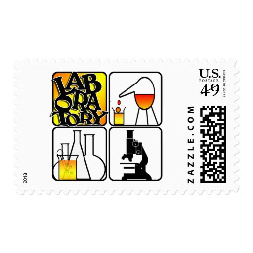LABORATORY LOGO 4 SQUARE - LAB ICONS POSTAGE