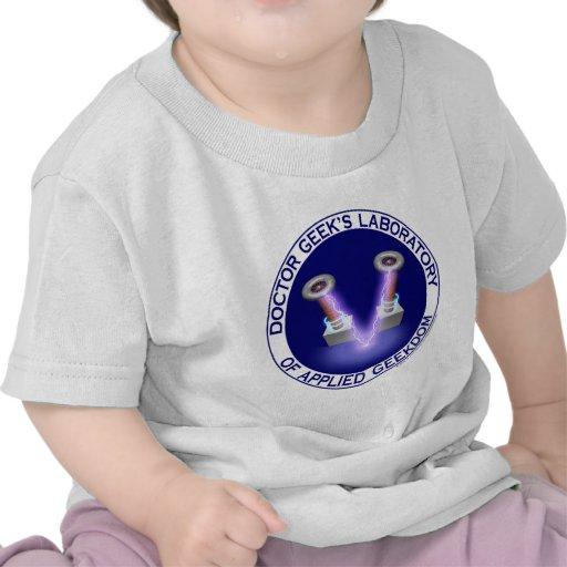 Laboratory Logo del doctor Geek's Camisetas