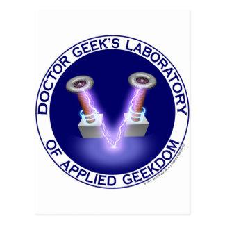 Laboratory Logo del doctor Geek's Postal