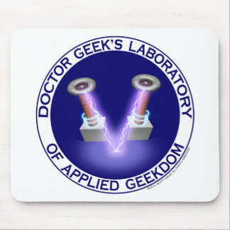 Laboratory Logo del doctor Geek's Mouse Pads