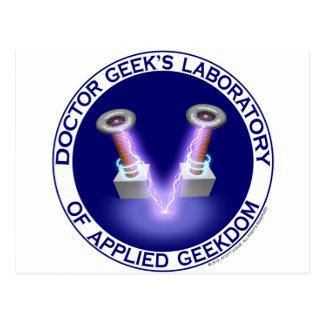 Laboratory Logo del doctor Geek's Tarjetas Postales
