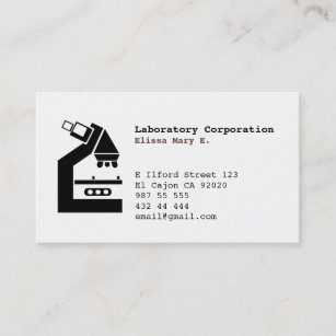 Medical lab business cards zazzle laboratory medical businessprofile card reheart Image collections