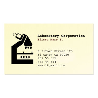 LABORATORY MEDICAL BUSINESS/Profile Card Double-Sided Standard Business Cards (Pack Of 100)
