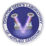 Laboratory Plate del doctor Geek's Plato
