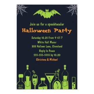 Laboratory Spooktacular Halloween Invitations