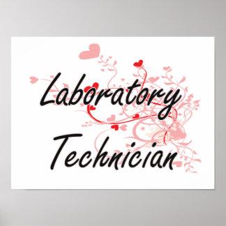 Laboratory Technician Artistic Job Design with Hea Poster