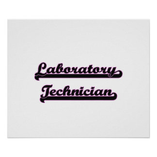 Laboratory Technician Classic Job Design Poster