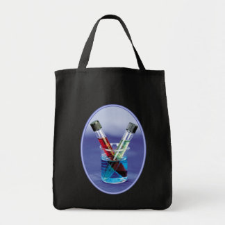 Laboratory Test Tubes Grocery Tote Bag