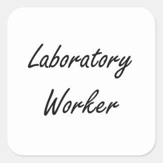 Laboratory Worker Artistic Job Design Square Sticker