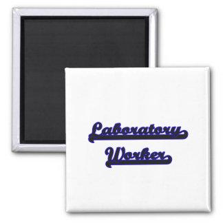 Laboratory Worker Classic Job Design 2 Inch Square Magnet