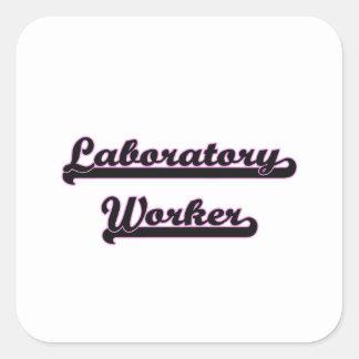 Laboratory Worker Classic Job Design Square Sticker