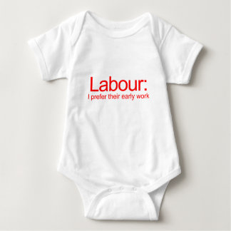 labour baby bodysuit