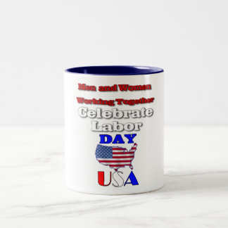 Labour Day Celebrations Two-Tone Coffee Mug