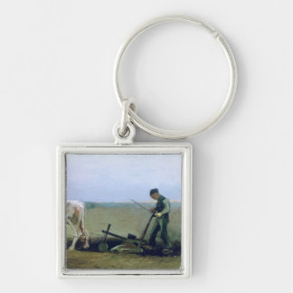 Labourer and Peasant Planting Potatoes, 1884 Keychain