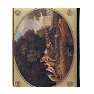 Labourers 1781 enamel on biscuit earthe iPad folio cover