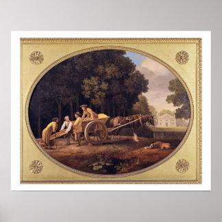 Labourers, 1781 (enamel on biscuit earthe poster