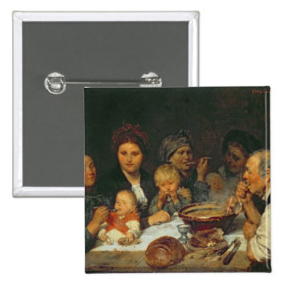 Labourers at a Table, Thueringen, 1875 Button