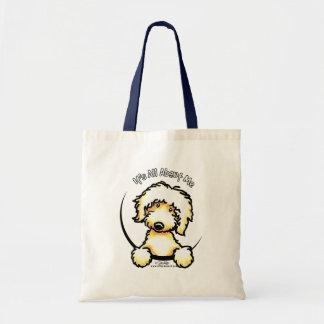 Labradoodle amarillo IAAM Bolsa Lienzo
