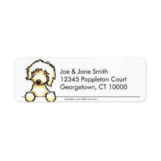 Labradoodle amarillo limpio y simple etiqueta de remitente