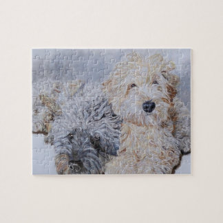 Labradoodle and Goldendoodle Jigsaw Puzzle