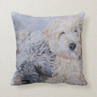 Labradoodle and Goldendoodle Throw Pillow