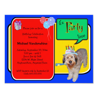 Labradoodle Birthday Barker Card