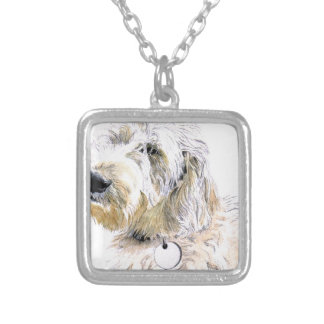 Labradoodle Butters Silver Plated Necklace