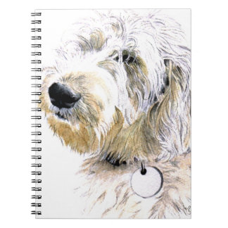 Labradoodle Butters Spiral Notebook
