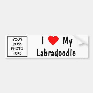 Labradoodle Etiqueta De Parachoque