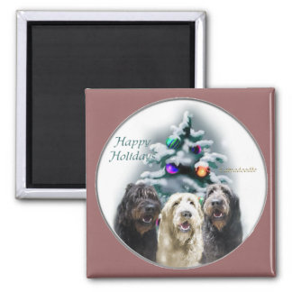 Labradoodle Christmas Gifts 2 Inch Square Magnet