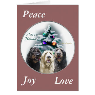 Labradoodle Christmas Gifts Cards