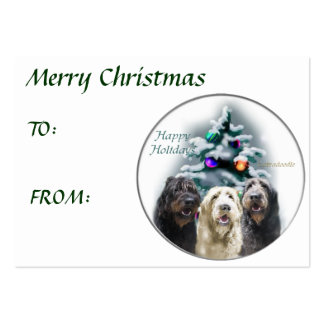 Labradoodle Christmas Gifts Large Business Cards (Pack Of 100)