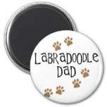 Labradoodle Dad 2 Inch Round Magnet