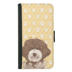 Galaxy S5 Wallet Case with Labradoodle Phone Cases design