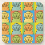 Labradoodle Dog Cartoon Pop-Art Drink Coaster