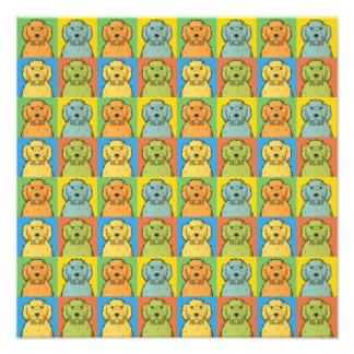 Labradoodle Dog Cartoon Pop-Art Photograph