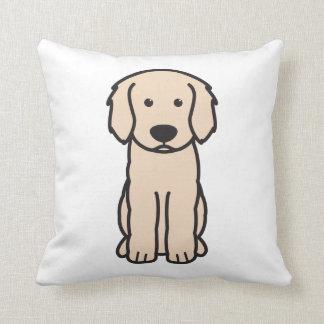 Labradoodle Dog Cartoon Throw Pillow