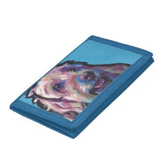 Labradoodle Dog fun bright pop art Tri-fold Wallet